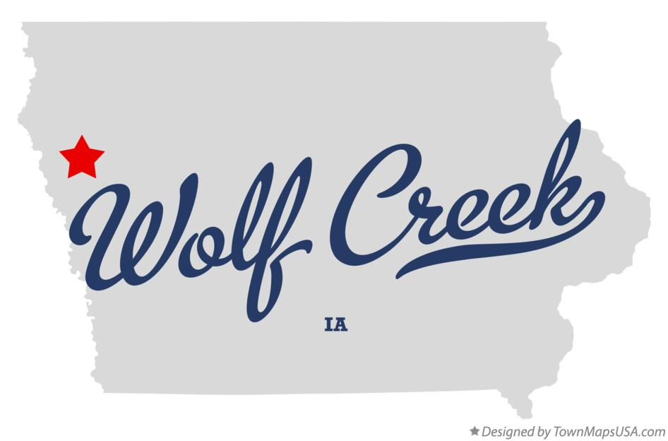 Map of Wolf Creek Iowa IA