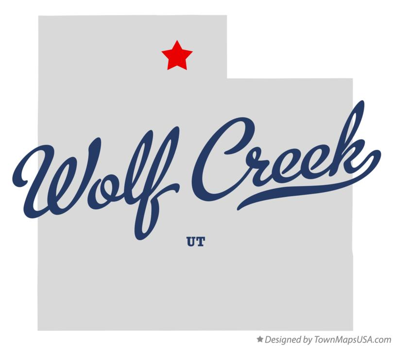 Map of Wolf Creek Utah UT