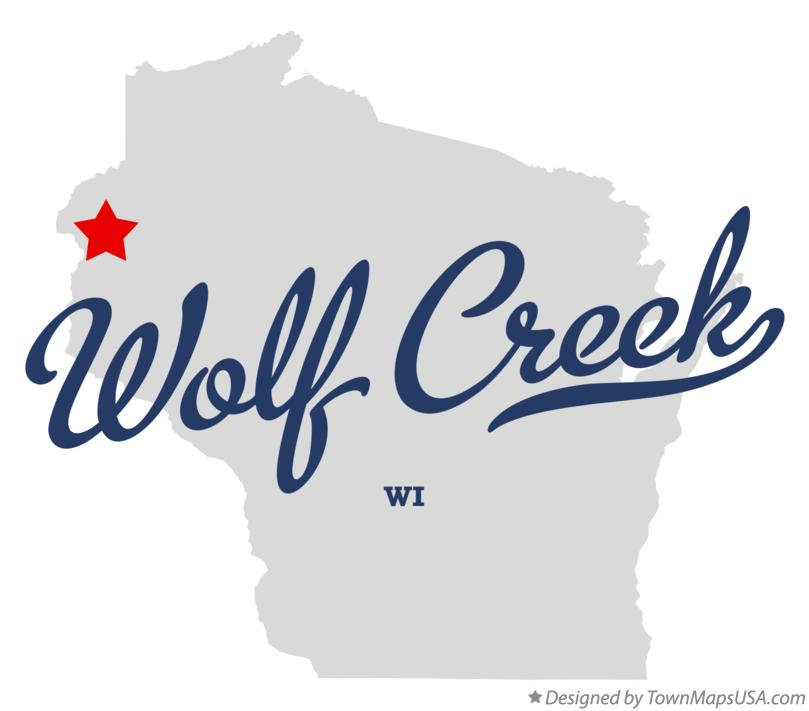 Map of Wolf Creek Wisconsin WI