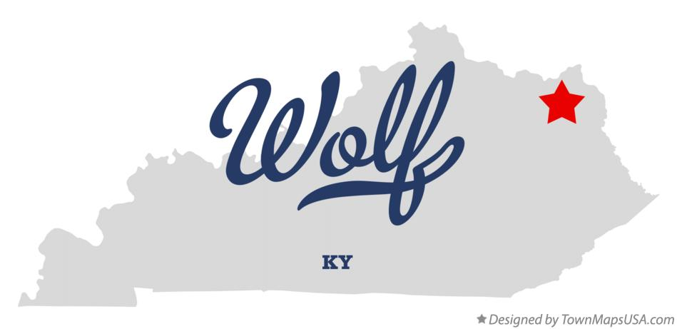 Map of Wolf Kentucky KY