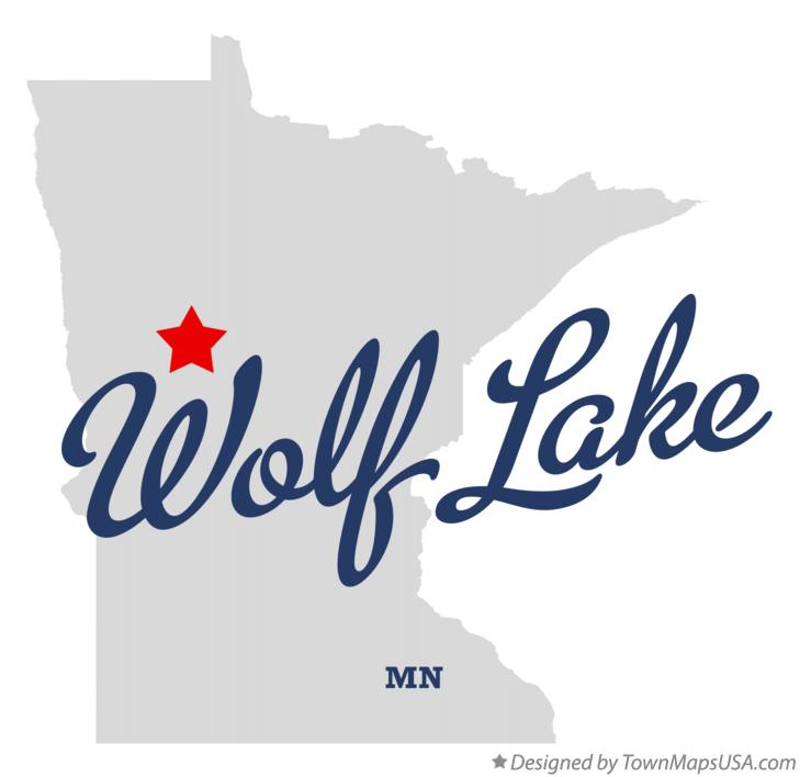 Map of Wolf Lake Minnesota MN