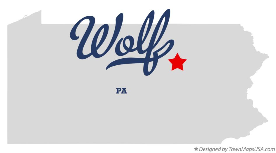 Map of Wolf Pennsylvania PA