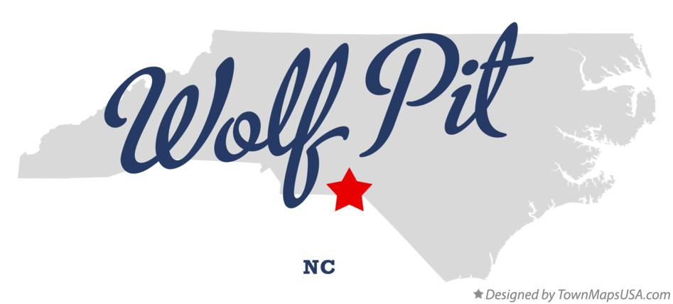 Map of Wolf Pit North Carolina NC