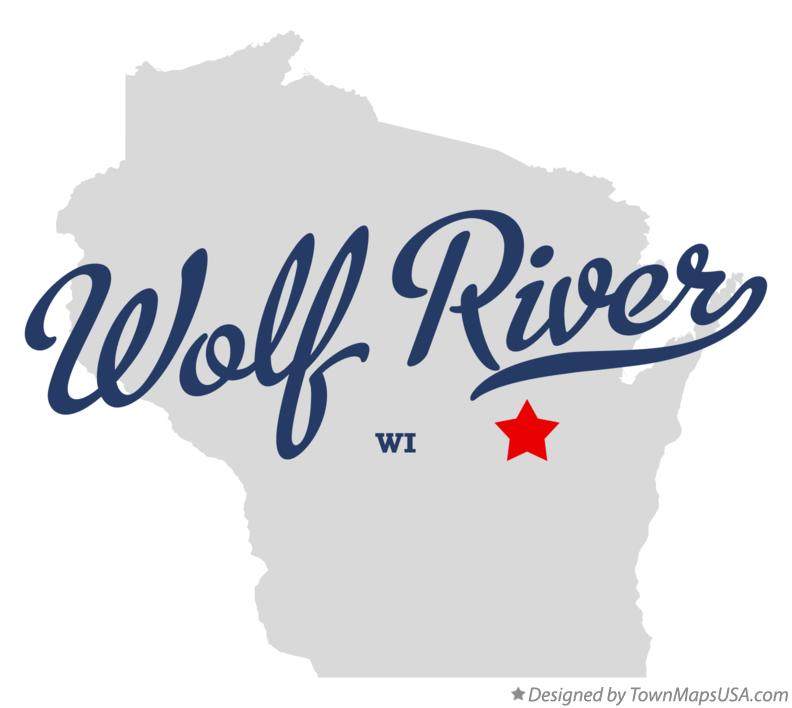 Map of Wolf River Wisconsin WI