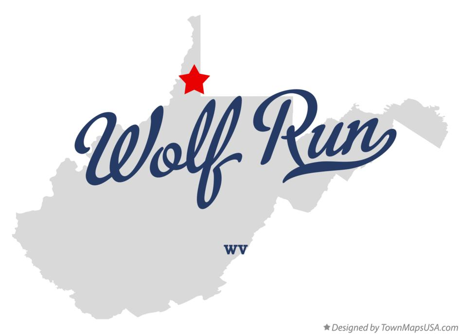 Map of Wolf Run West Virginia WV