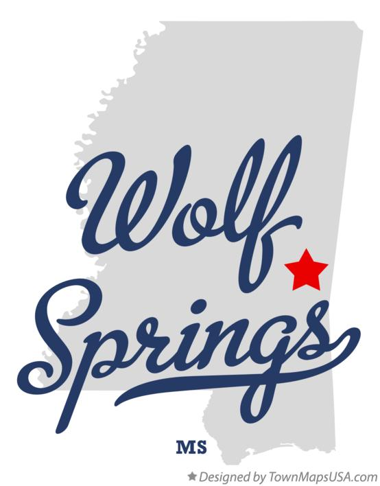 Map of Wolf Springs Mississippi MS