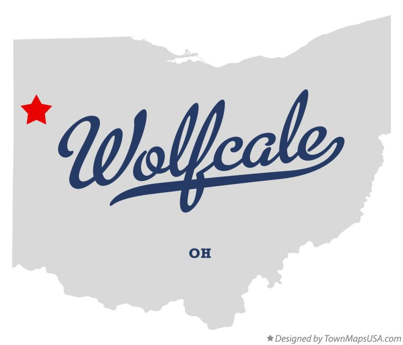 Map of Wolfcale Ohio OH