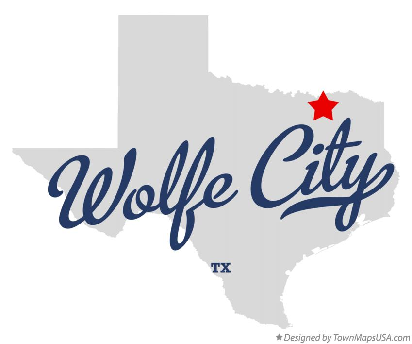 Map of Wolfe City Texas TX