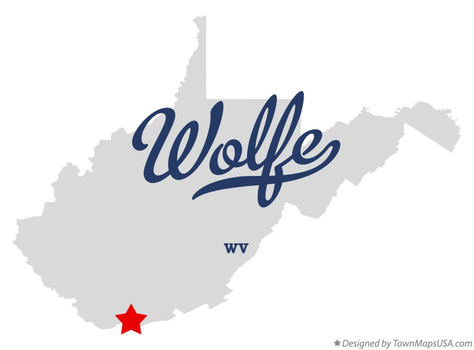 Map of Wolfe West Virginia WV