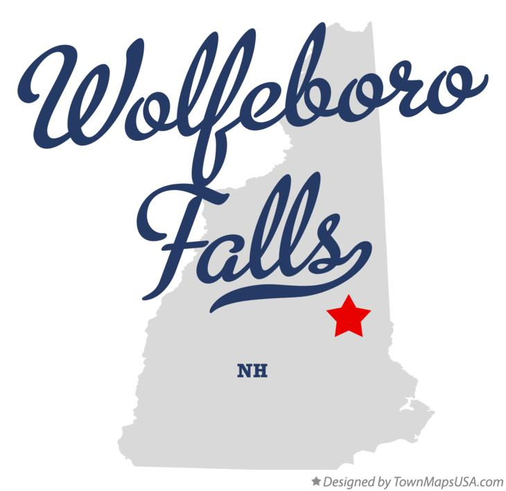 Map of Wolfeboro Falls New Hampshire NH