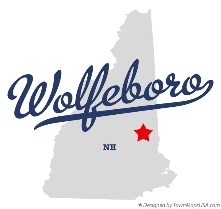 Map of Wolfeboro New Hampshire NH