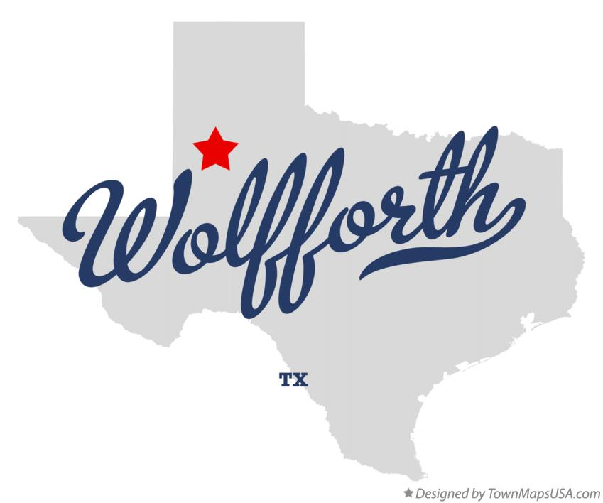 Map of Wolfforth Texas TX