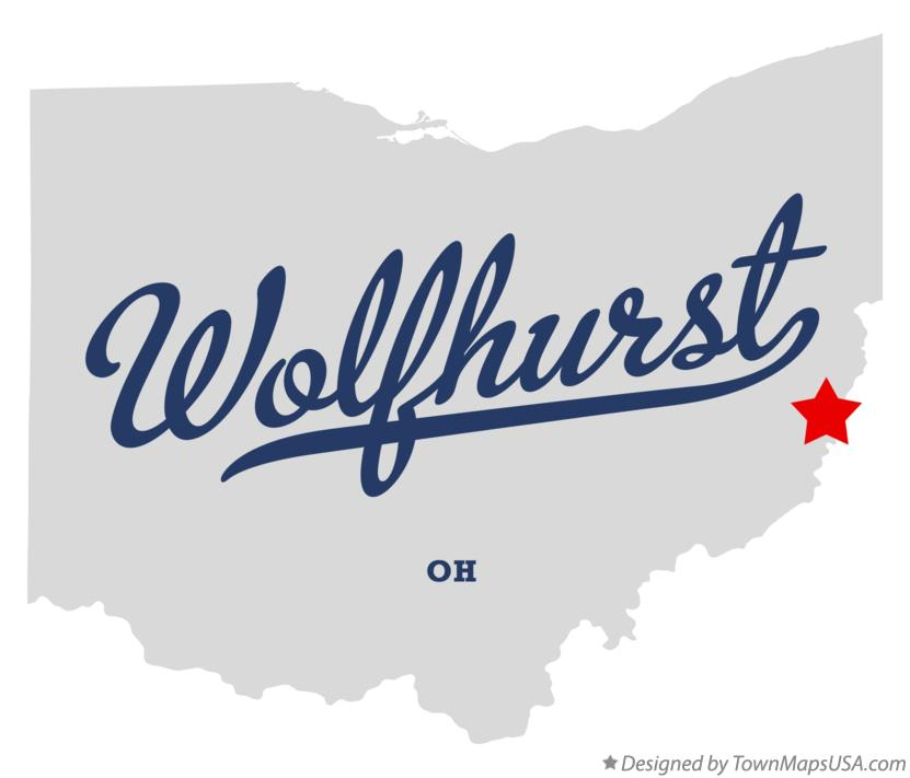 Map of Wolfhurst Ohio OH