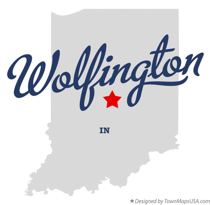 Map of Wolfington Indiana IN