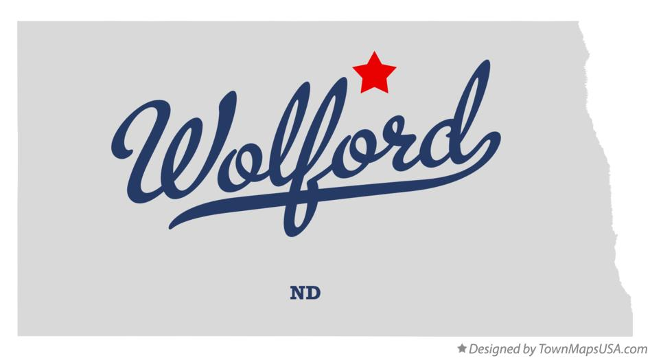 Map of Wolford North Dakota ND
