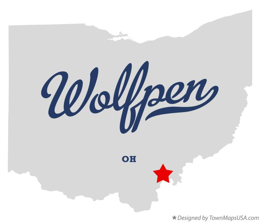 Map of Wolfpen Ohio OH
