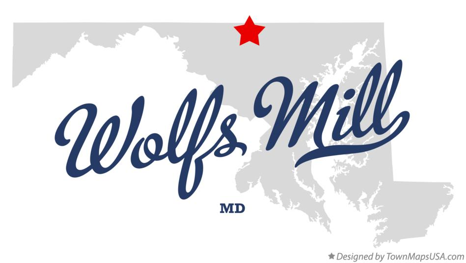 Map of Wolfs Mill Maryland MD