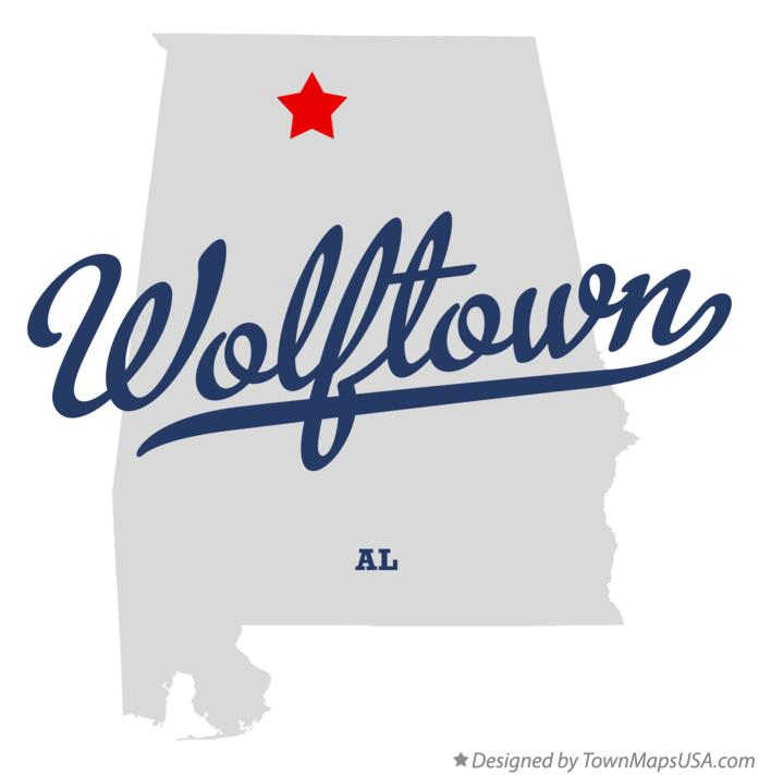 Map of Wolftown Alabama AL