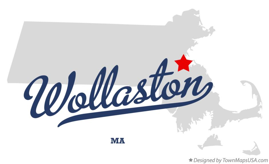 Map of Wollaston Massachusetts MA