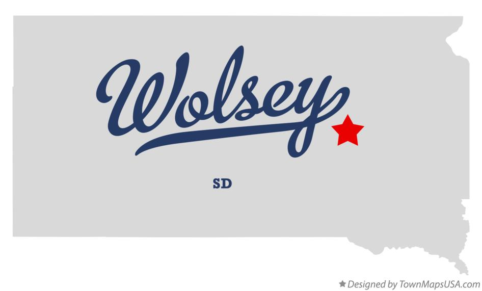 Map of Wolsey South Dakota SD