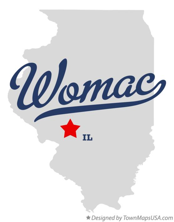 Map of Womac Illinois IL