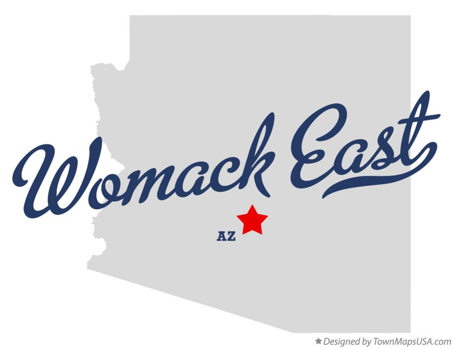 Map of Womack East Arizona AZ