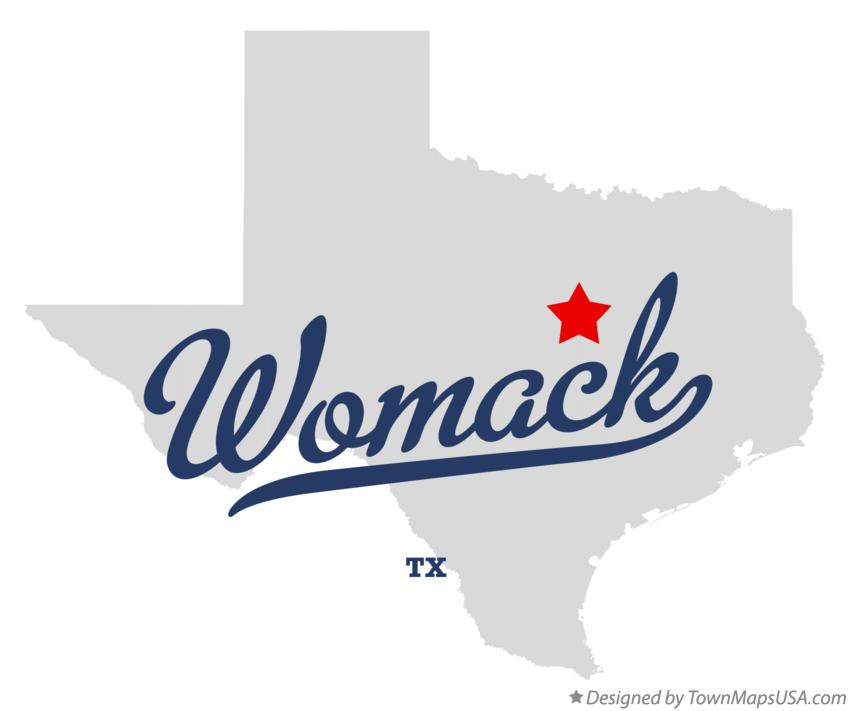 Map of Womack Texas TX