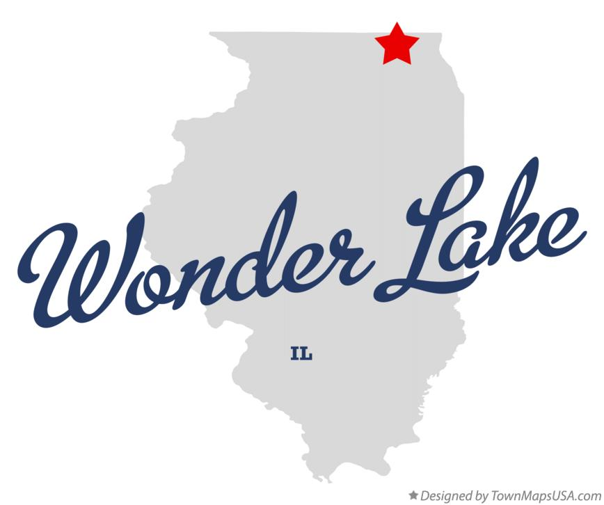 Map of Wonder Lake Illinois IL