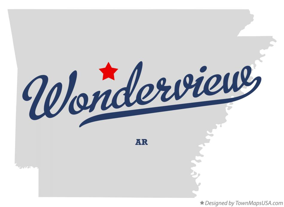 Map of Wonderview Arkansas AR