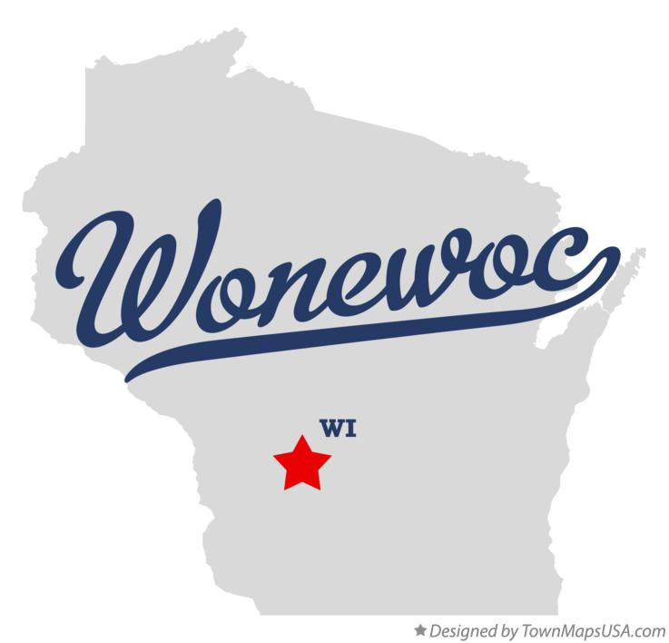 Map of Wonewoc Wisconsin WI