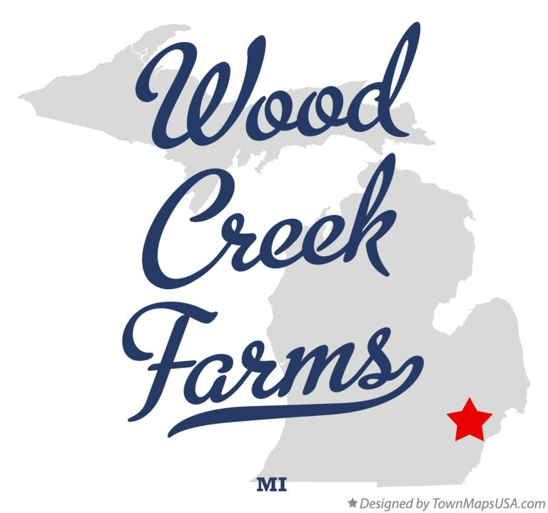 Map of Wood Creek Farms Michigan MI