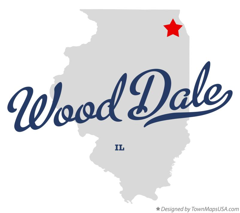 Map of Wood Dale Illinois IL
