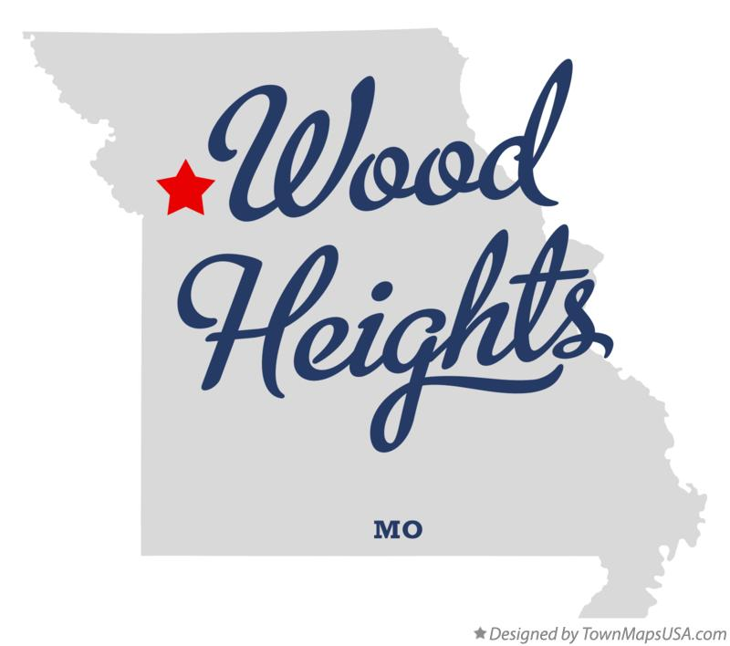 Map of Wood Heights Missouri MO