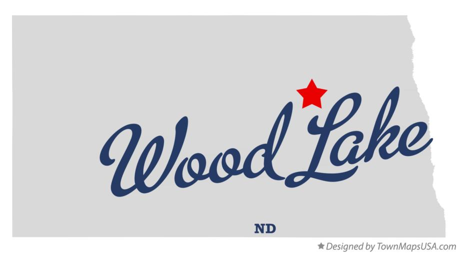 Map of Wood Lake North Dakota ND