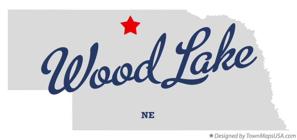 Map of Wood Lake Nebraska NE