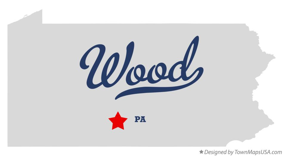 Map of Wood Pennsylvania PA