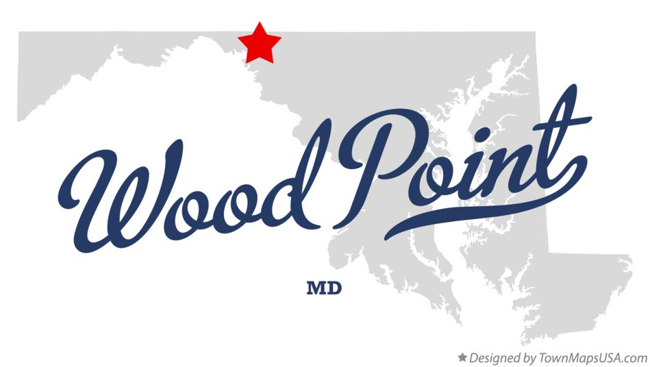 Map of Wood Point Maryland MD