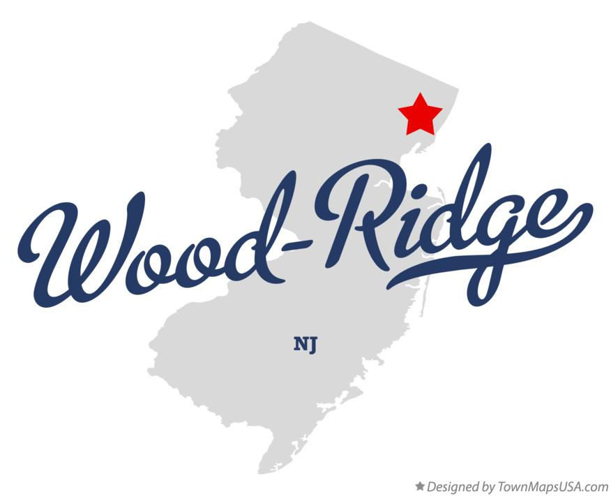 Map Of Wood Ridge New Jersey Nj
