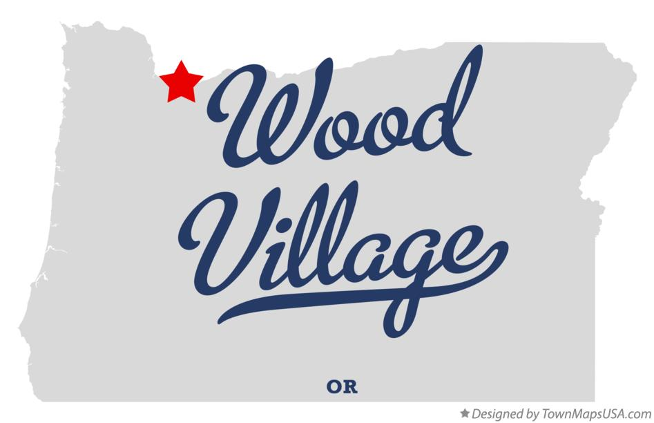Map of Wood Village Oregon OR