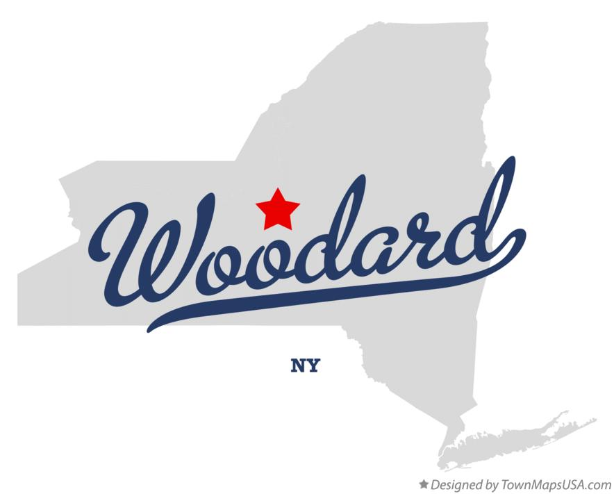 Map of Woodard New York NY