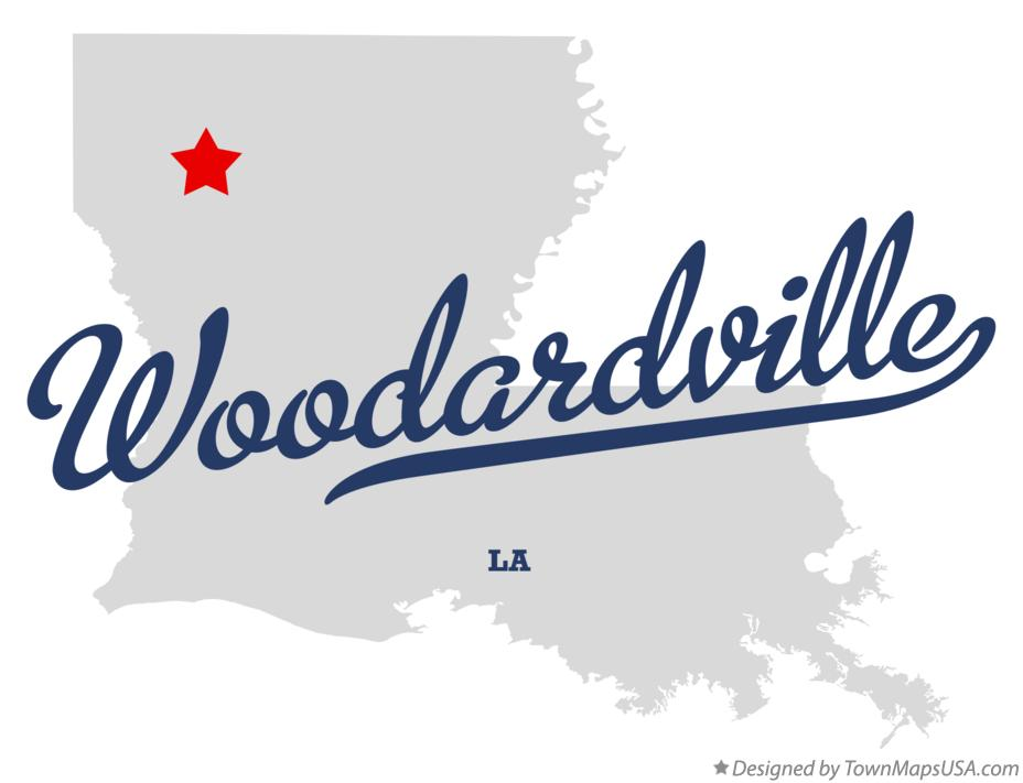 Map of Woodardville Louisiana LA