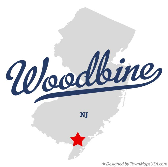 Map of Woodbine New Jersey NJ