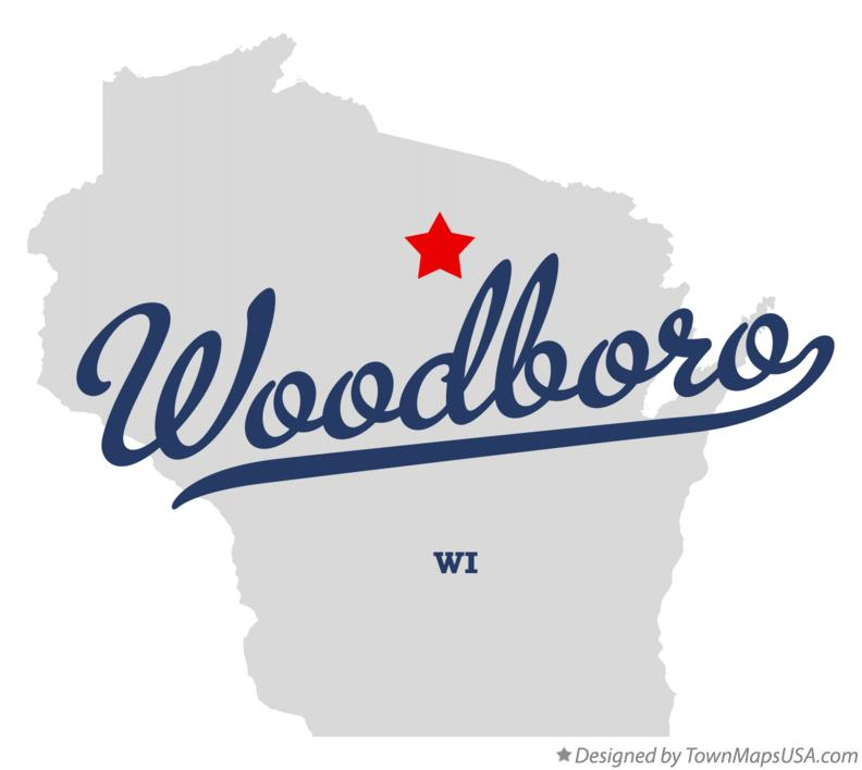 Map of Woodboro Wisconsin WI