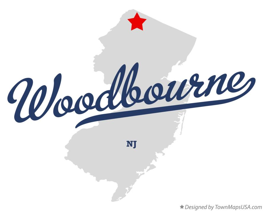 Map of Woodbourne New Jersey NJ
