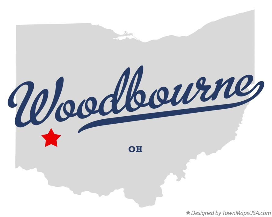 Map of Woodbourne Ohio OH