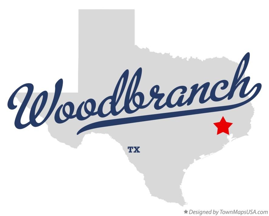 Map of Woodbranch Texas TX