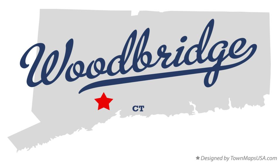 Map of Woodbridge Connecticut CT