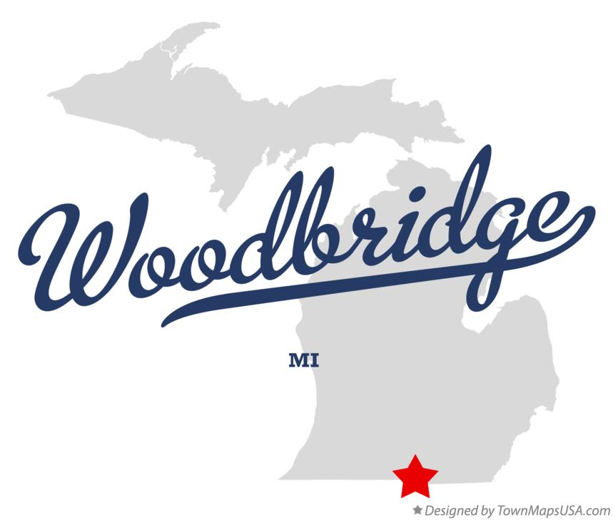 Map of Woodbridge Michigan MI
