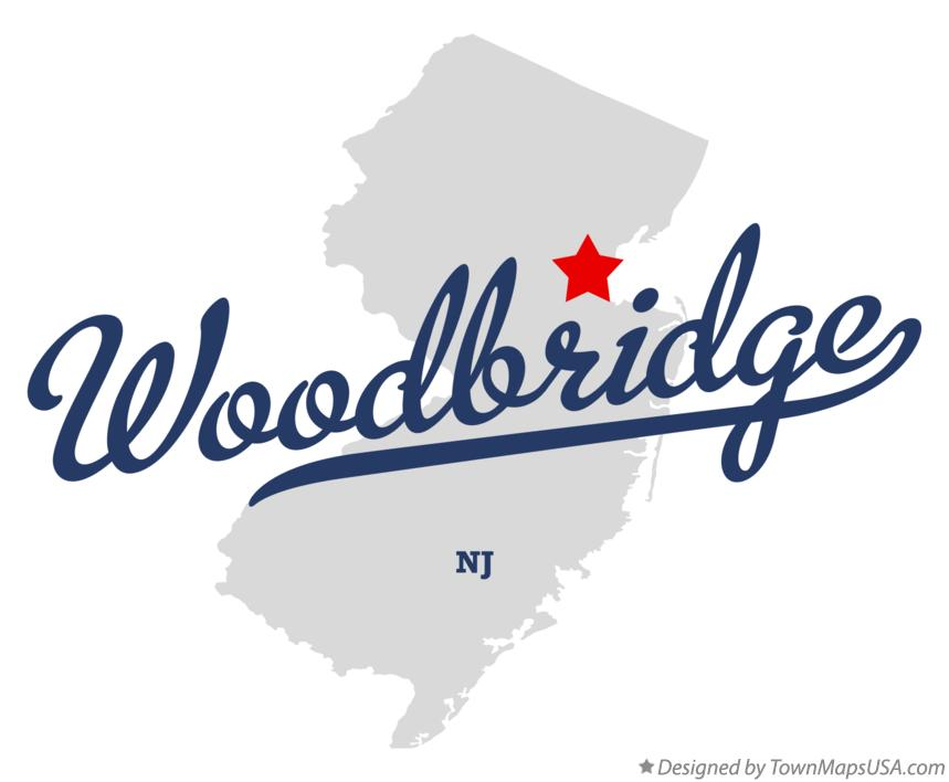 Map of Woodbridge New Jersey NJ