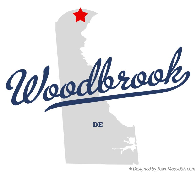Map of Woodbrook Delaware DE